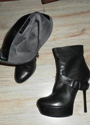 Ботильоны кожаные на высоком каблуке3