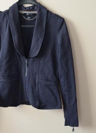 Пиджак жакет хлопок трикотажный без дефектов yaya 38 евро размер см.замеры