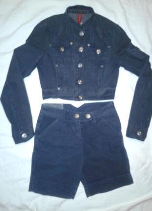 Классный летний костюм(шорты и курточка)на стильную худенькую девушку river island оригинал,размер s