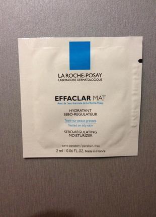 Увлажняющая матирующая себорегулирующая эмульсия la roche-posay effaclar mat пробник