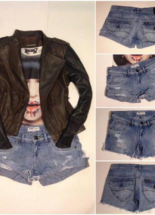 Шорты короткие джинсовые