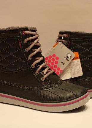 Шикарні crocs womens allcast waterproof duck boot