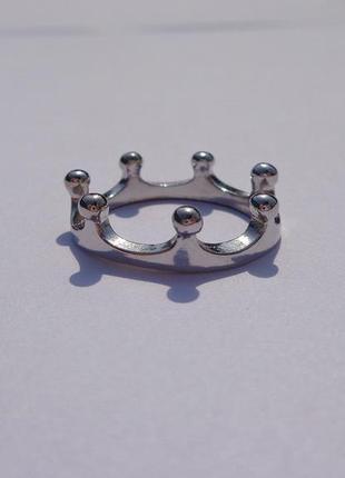 Колечко корона серебристое (золотое)