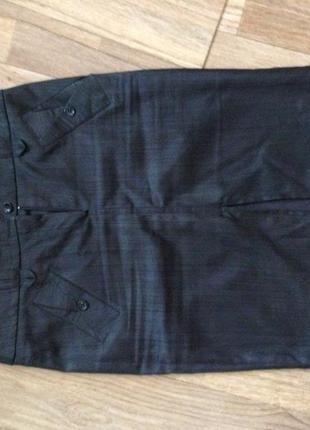 Классическая чёрная юбка