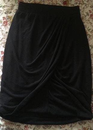 Чёрная юбка карандашь с запахом