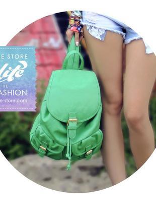 Офигенный зеленый рюкзак