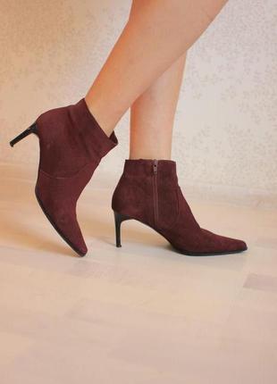 Ботильоны ботинки цвета марсала, италия бренд george