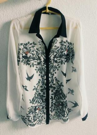 Рубашка shein с принтом