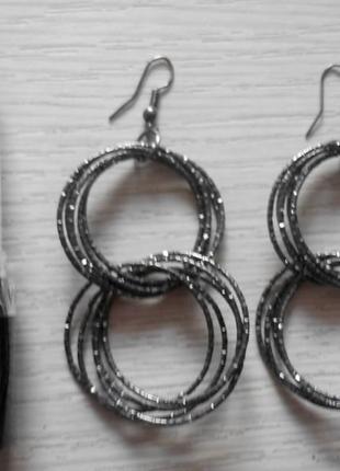Серьги - двойные кольца
