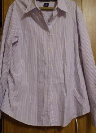 Рубашка в сиреневую полоску бренд gap