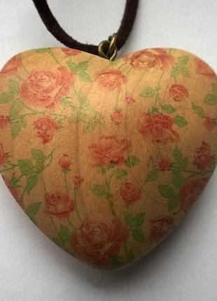 Кулон подвеска сердце stradivarius