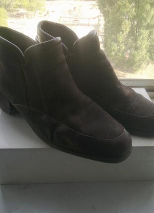 Ботинки gabor кожа+замша