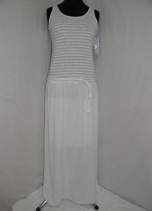 Итальянское платье в пол из 100% хлопка