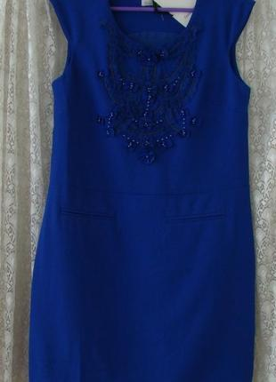 Платье модное синее мини good look р.42-44 №6633