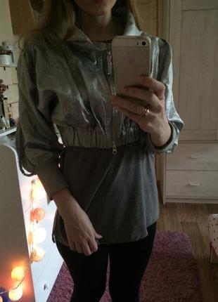 Металлизированная курточка gizia swarovski оригинал