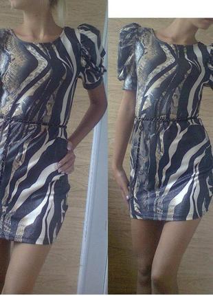 Супер-крутое платье материал под змеиную кожу!