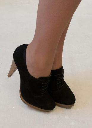 Замшевые закрытые туфли