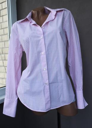 Рожево біла сорочка із якісної бавовни! ваш літній мастхев у квадатики! :)