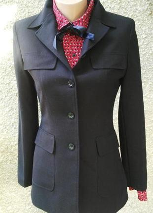 Шерстяной жакет(пиджак)mexx удлиненный с накладными карманами,шерсть + полиэстер