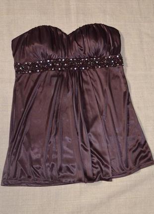 Шикарная вечерняя блуза-бюстье