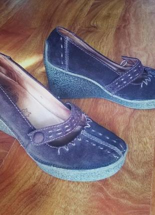 Замшевые туфли chester