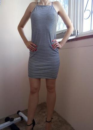 Продам платье в полоску р-с