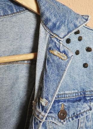 Джинсовая куртка оверсайз джинсовка