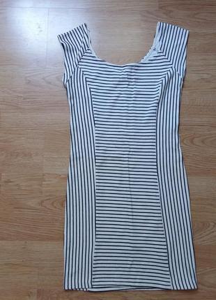 Актуальное платье в полоску bershka