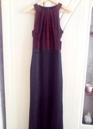 Вечернее платье mango в пол. размер s.