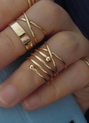 Модные наборы колец на пальцы и фаланги от сорока. ми