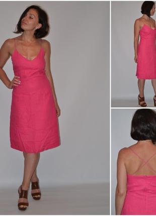 Льняное платье h&m