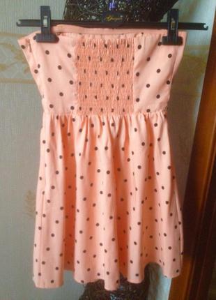 Платье в горошек forever 21