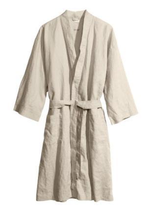 H&m красивый халат премиум качества из льна размер s/m