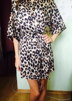Леопардовый халат с forever 21