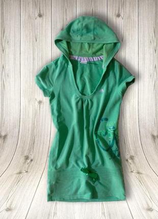 Актуальное туника-платье с капюшоном от adidas