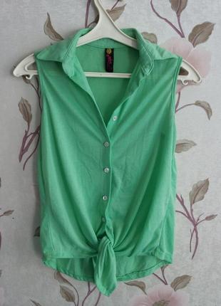Рубашка-безрукавочка из тончайшего нежного трикотажа smaile m