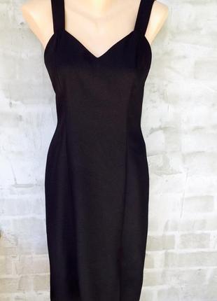 Лёгкое приталенное чёрное платье миди , day meets night, s