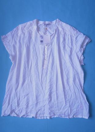 Шикарная кремовая блуза с вышивкой