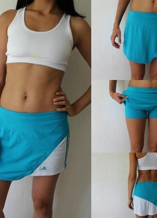 Спортивна юбка-шорти adidas climalite