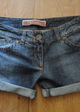 Классные стильные короткие джинсовые шорты, р-р xs-s(28)