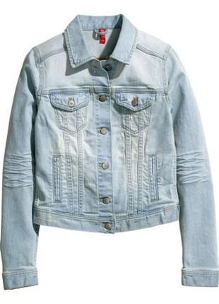 Джинсовая куртка h&m 34p