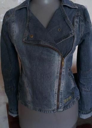 Джинсовая куртка косуха charlrs voegele.