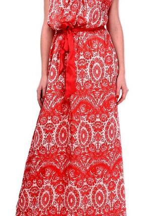 Легкое платье в пол mango ,раз l,производство марокко-