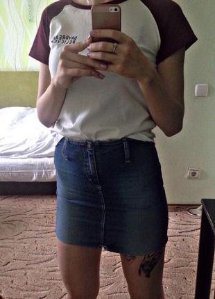 Юбка zara джинсовая