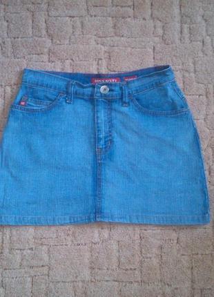 Джинсовая голубая короткая юбка miss sixty