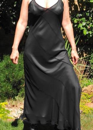 Шифоновое платье в пол. есть нюанс.