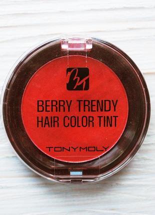 Мелок для волос berry trendy hair color tint. 01 кораллово-красный