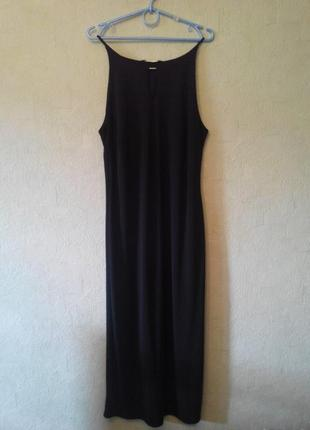 Платье черное в пол