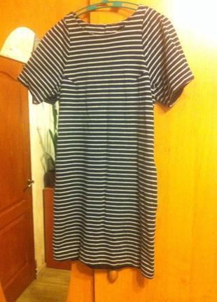 Платье в полоску  mango
