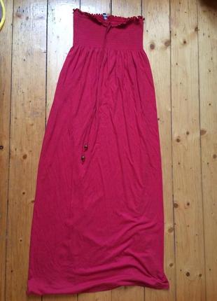 Платье в пол трикотаж